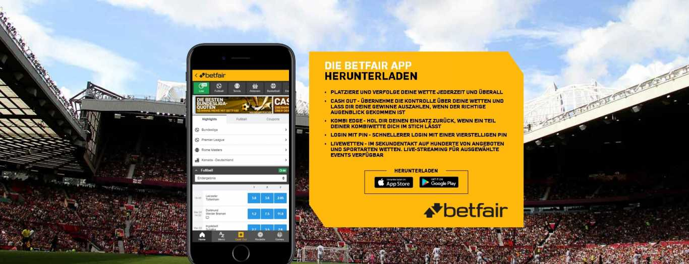 Betfair mobile app