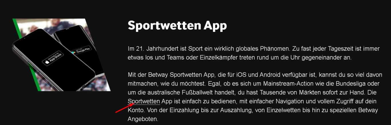 Betway sports app