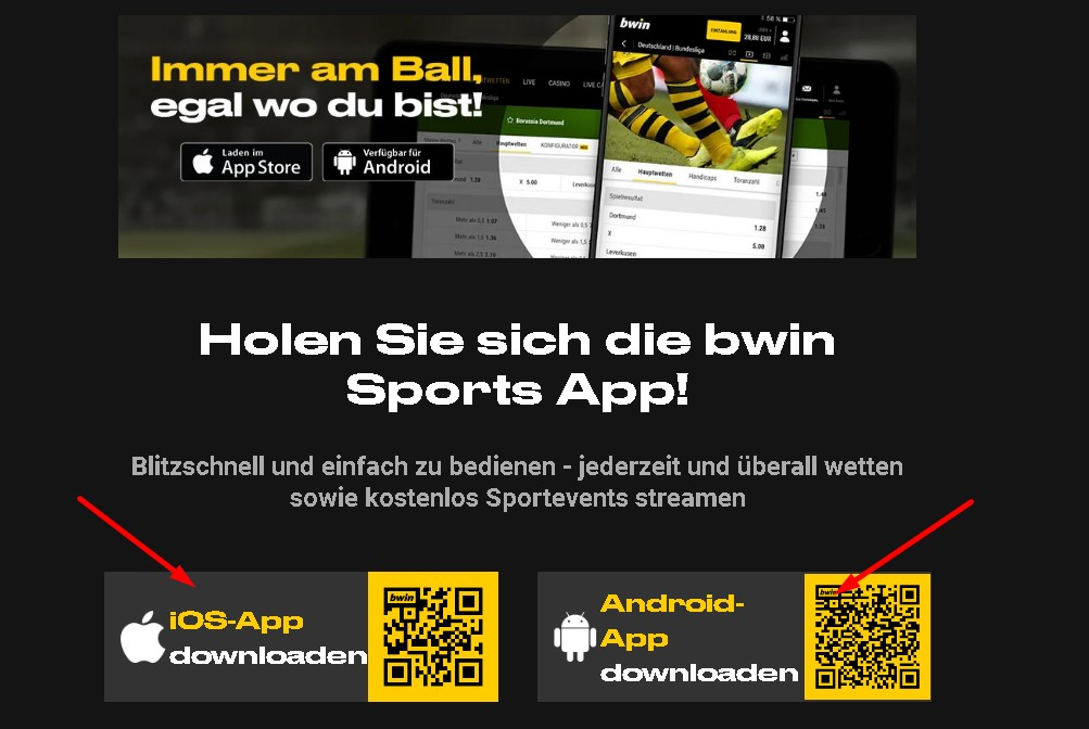 Bwin mobile apps