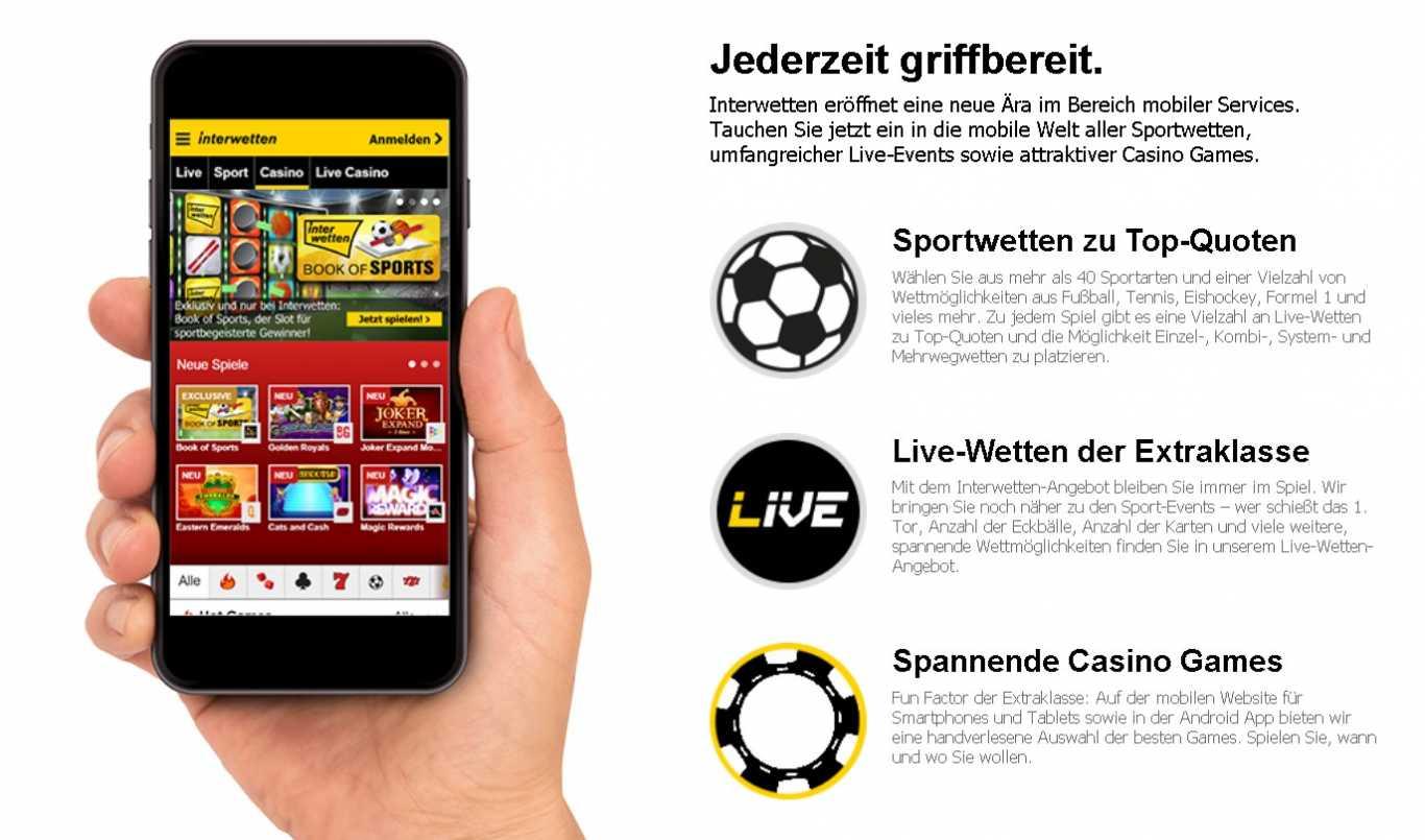 Interwetten mobile app